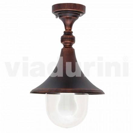 Ogrodowa lampa sufitowa z odlewanego aluminium, wyprodukowana we Włoszech, w Anusca