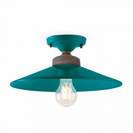 Lampa sufitowa design ceramika i mosiądz Cecilia