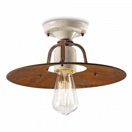 Lampa wisząca ceramiczno-metalowa Elaine Ferroluce
