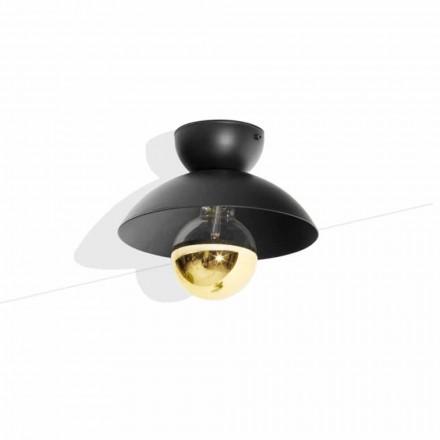 Metalowa lampa sufitowa ze złotym wykończeniem Made in Italy - Valta