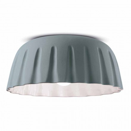 Ceramiczna lampa sufitowa w stylu vintage Made in Italy - Ferroluce Madame Grès