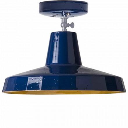 Oświetlenie sufitowe w toskańskiej maiolice i mosiądzu, 30cm, Rossi - Toscot