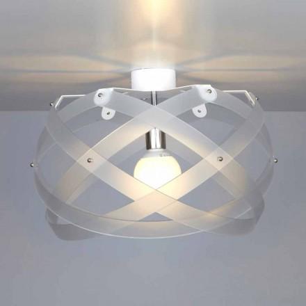 Nowoczesna lampa sufitowa metakrylanowa Vanna, średnica 40 cm