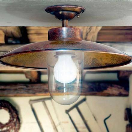 Lampa sufitowa z mosiądzu, miedzi i szkła Nabucco