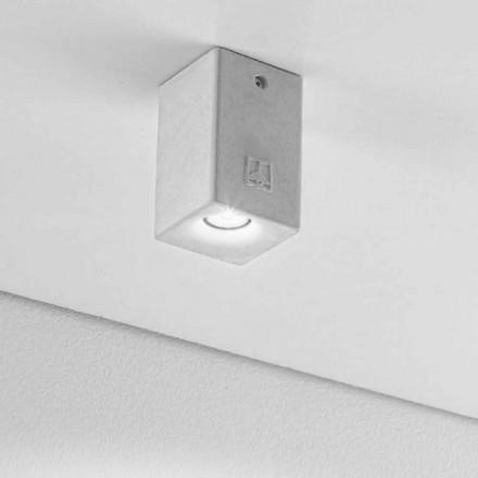 Reflektor kwadratowy nowoczesny z gipsu i cementu Nadir 2