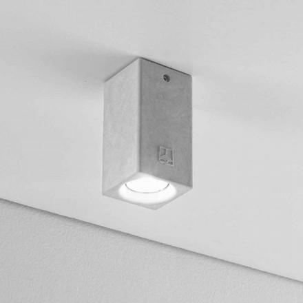 Reflektor kwadratowy nowoczesny z gipsu i cementu Nadir 5