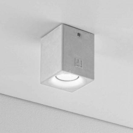 Reflektor kwadratowy nowoczesny z gipsu i cementu Nadir 3