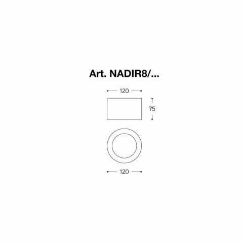 Okrągły Led tynk sufitu i cement Nadir 8 Aldo Bernardi