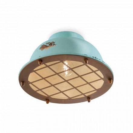 Lampa sufitowa nautyczny styl z siatką Mary Ferroluce