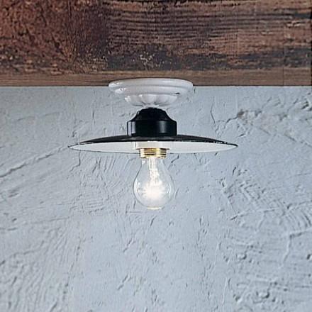 Lampa sufitowa okrągła ceramiczna Ferroluce