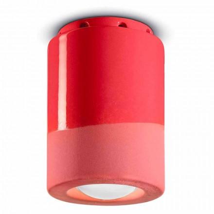 Vintage lampa sufitowa z ceramiki Made in Italy - Ferroluce Pi