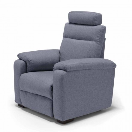 Fotel relax 2 silniki design Girasole, made in Italy