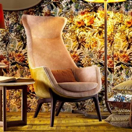 Fotel tapicerowany z tkaniny design Grilli Wilde made in Italy