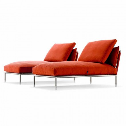 Fotel szezlongu o nowoczesnym designie dla ogrodu Made in Italy - Ontario1