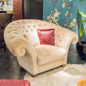 Balma capitonnè klasyczny fotel ze sztucznego futra