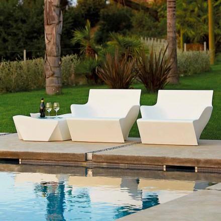 Fotel z podłokietnikami do wnętrz/ogrodu Slide Kanmi San made in Italy