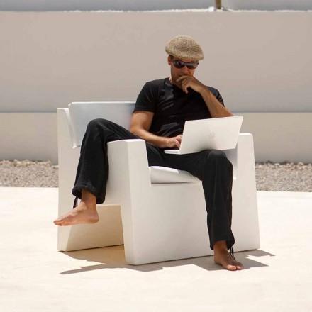Nowoczesny fotel ogrodowy wykonany z żywicy polietylenowej, Jut by Vondom