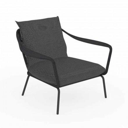 Nowoczesny fotel ogrodowy z aluminium i tkaniny - Cruise Alu Talenti