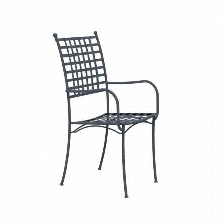 Metalowy fotel do układania w stosy Made in Italy, 4 sztuki - Pira