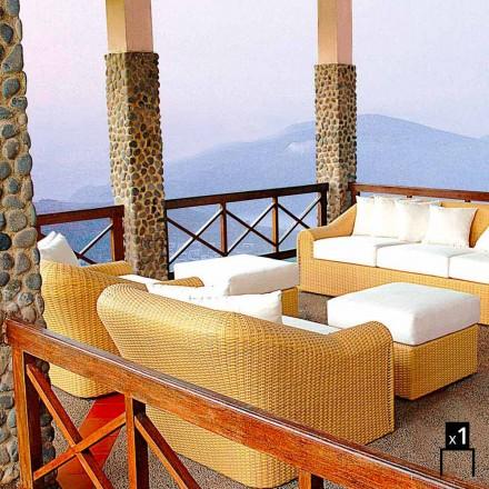 Fotel ogrodowy z polietylenu pleciony ręcznie Cooper