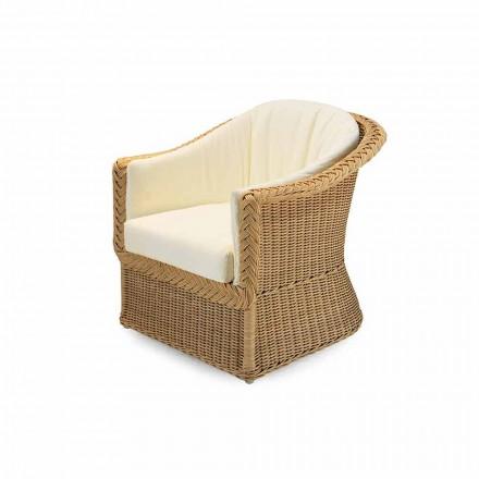 Fotel ogrodowy design z pleciony ręcznie, model Naomi design