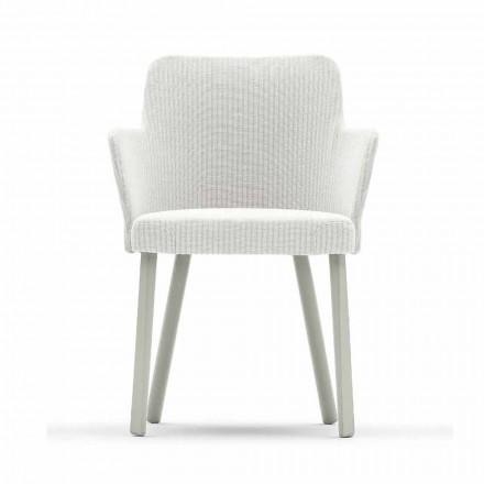 Zaprojektuj fotel zewnętrzny z aluminium i tkaniny Emma od Varaschin