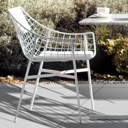 Zaprojektuj fotel na zewnątrz w białej stali. Summer set by Varaschin