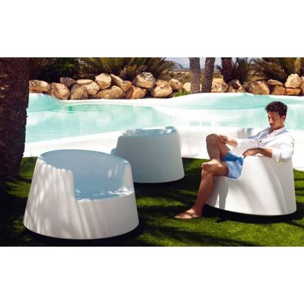 Nowoczesny fotel ogrodowy z polietylenu, ruletka Vondoma