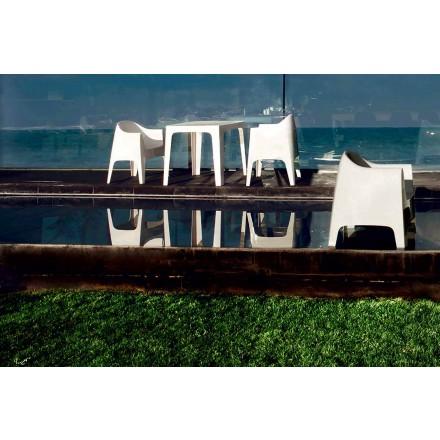 Nowoczesny fotel na zewnątrz z polipropylenu Solid firmy Vondom