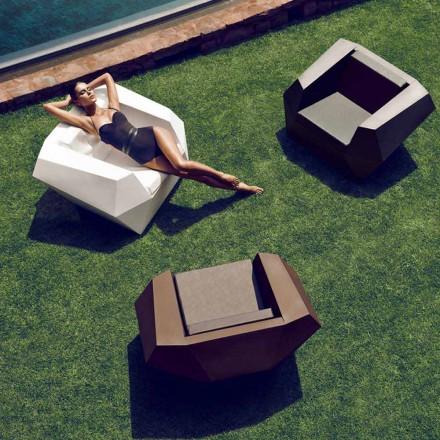 Nowoczesny fotel na zewnątrz, z polietylenu, Faz firmy Vondom