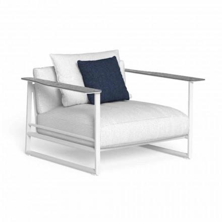 Fotel ogrodowy z aluminium i gresu Made in Italy - Riviera by Talenti