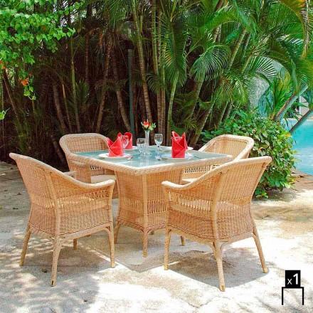 Fotel ogrodowy z polietylenu pleciony ręcznie Chad