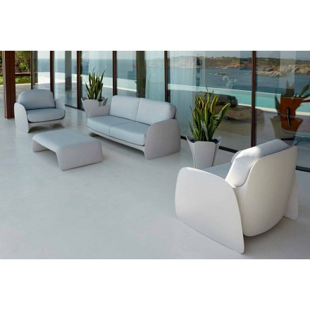 Nowoczesny fotel ogrodowy z polietylenu, Pezzettina firmy Vondom
