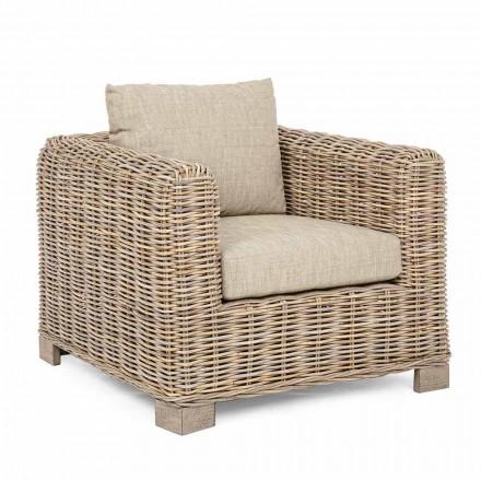 Wewnętrzny i zewnętrzny fotel rattanowy marki Homemotion - Ceara Design