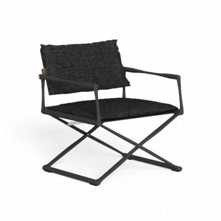 Składane krzesło ogrodowe z wysokiej jakości aluminium - Riviera by Talenti