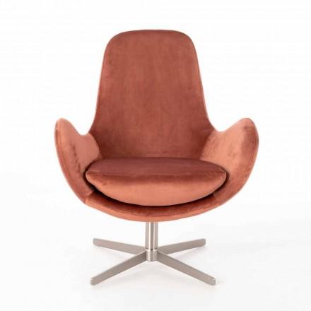 Wyściełany fotel obrotowy w nowoczesnym stylu z aksamitu - Gajarda