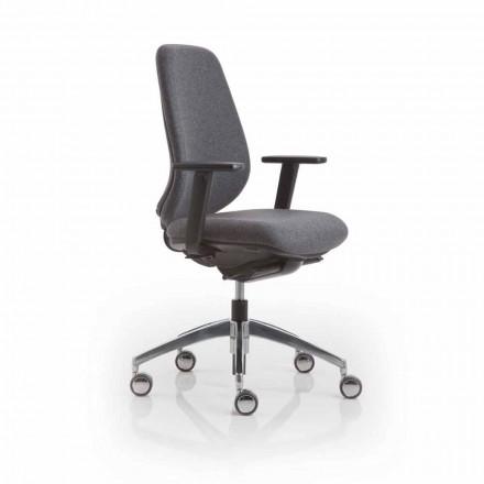 Krzesło biurowe design Pratica, czarny plastik