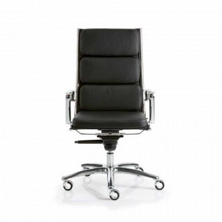 Fotel biurowy design skórzany Light