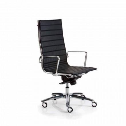 Fotel biurowy design ze skóry lub materiału Light