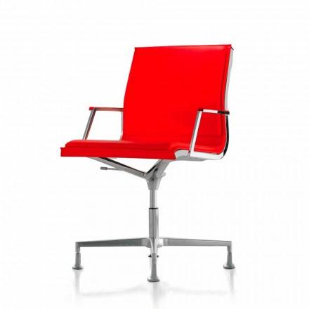 Fotel biurowy z materiału lub skórzany Nulite