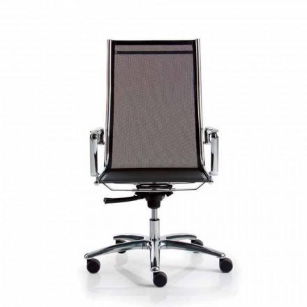 Fotel biurowy z wysokim oparciem z siatki, Light