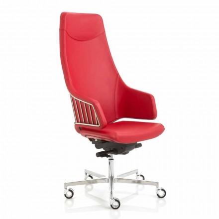 Fotel biurowy model Italia od firmy Luxy, made in Italy