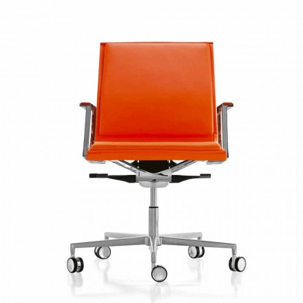 Fotel biurowy design ergonomiczny skórzany lub z materiału Nulite
