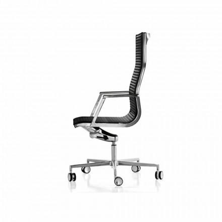 Krzesło biurowe ergonomiczne skórzany lub z materiału Nulite