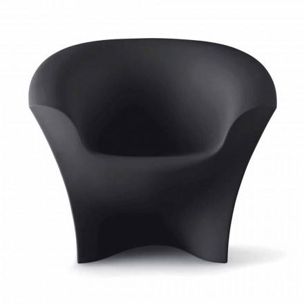 Fotel zaprojektowany do użytku na zewnątrz z matowego lub lakierowanego polietylenu Made in Italy - Conda
