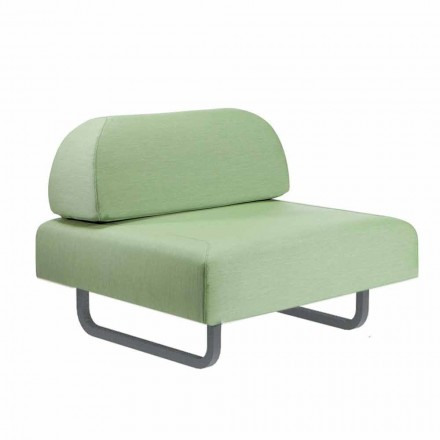 Fotel do projektowania na zewnątrz z metalu i tkaniny Made in Italy - Selia