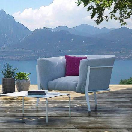 Nowoczesny i wyprodukowany we Włoszech fotel designerski na zewnątrz lub do wewnątrz - Carminio1