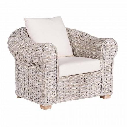 Etniczny fotel do wewnątrz lub wewnątrz Outdoor Rattan Homemotion - Francioso