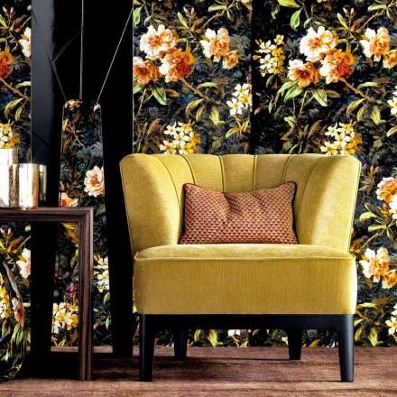 Fotel tapicerowny design Grilli Kipling made in Italy