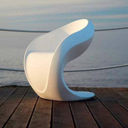 Fotel wewnętrzny lub zewnętrzny z białego polietylenu - Petra by Myyour